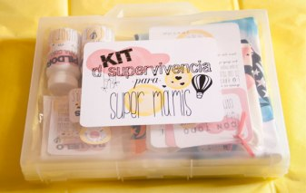 Kit de supervivencia para super mamis (para mamas recientes) en Fiesta y Chocolate