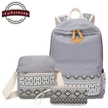 CAIBAOWANG-Womens-3PCS-Canvas-Bookbags-School-Backpack-Shoulder-Bag-Handbag-Wallet-For-Teen-Girls_jpg_220x220