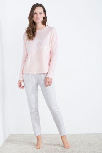 Pijama largo polar 'Pink ladies' (32,99 €)